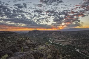 Rio Grande River Sunrise 2 - White R
