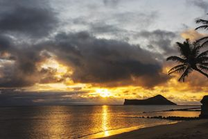 Rabbit Island Sunrise - Oahu Hawaii
