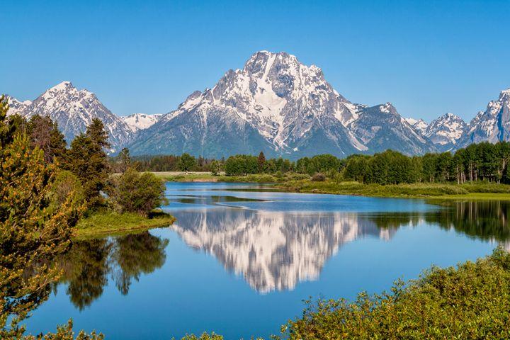 Mount Moran on Snake River - Brian Harig Photography