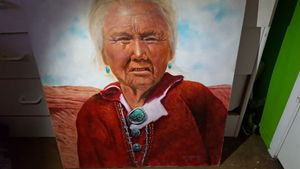 Portrait of Native American Grandmot