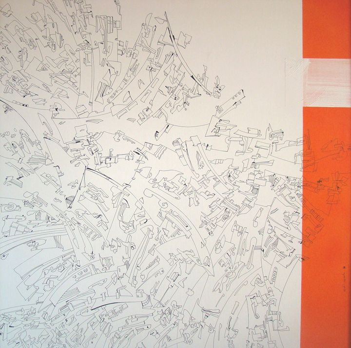 Orange Line - Holotropic Art by Edi APOSTU