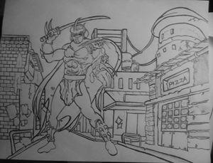 Tnmt 90s style shredder drawing