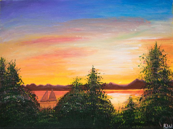 Sunset - Paintings by Komal