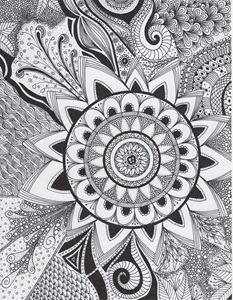 Zentangle Mandala Flower