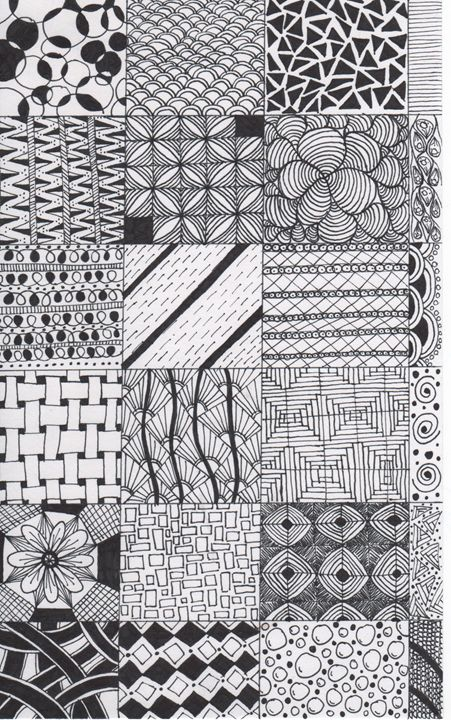 Zentangle tiles - Alyssa LaCivita