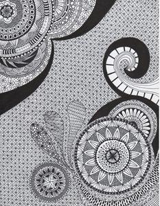 Zentangle Art - Mandala - Alyssa LaCivita