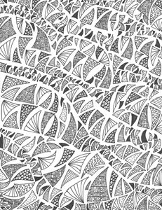 Odd Triangle Zentangle - Alyssa LaCivita