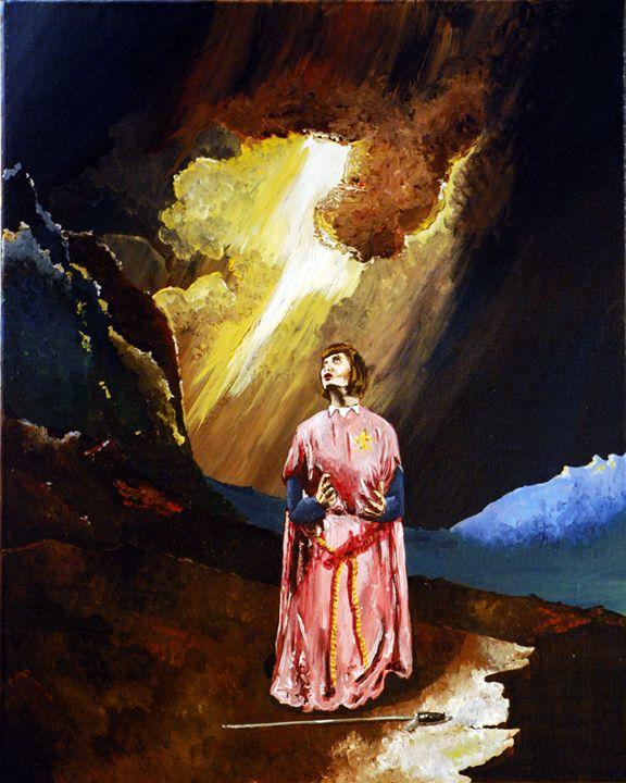 Jeanne d'Arc - Agatha Leach, Acrylics.