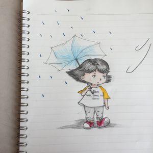 Colored 'rain'