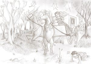 Fleeing sketch