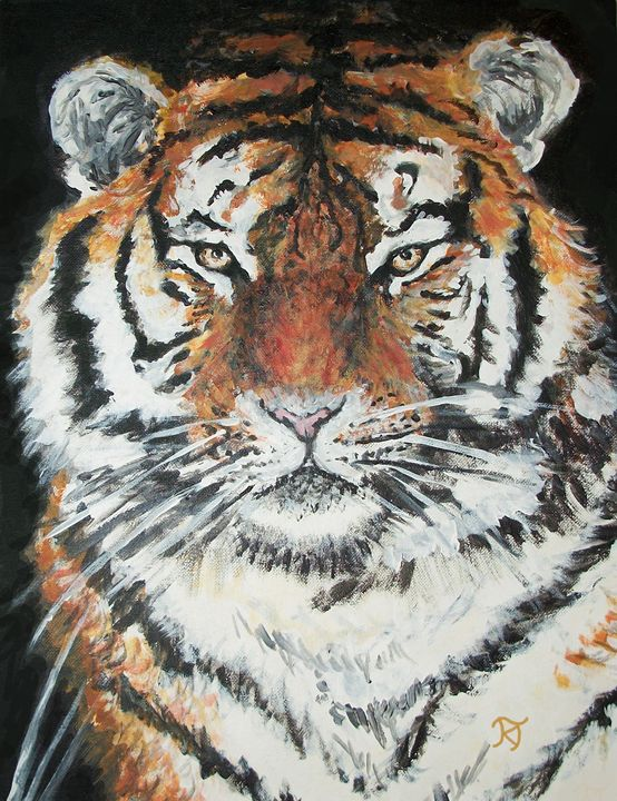 Portrait of a Tiger - Bekablo Creations