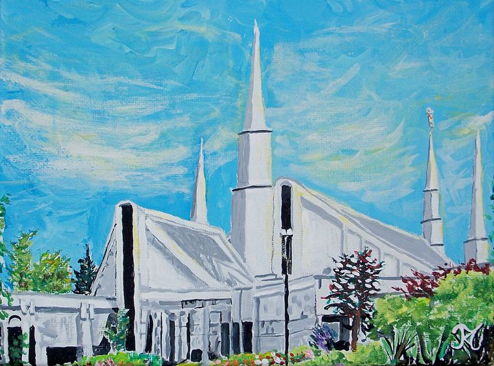 Chicago Illinois LDS Temple - Bekablo Creations