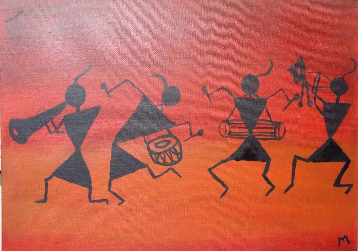 Warli painting anamika art gallery paintings prints ethnic warli painting anamika art gallery thecheapjerseys Image collections