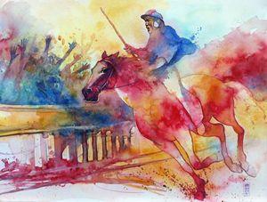 Il fantino - Alessandro Andreuccetti Art