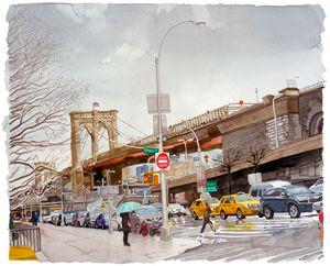 Brooklyn Bridge at Pearl Street