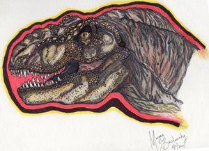 Jurassic Park T-rex - Guillotine