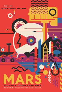 Retro Style Mars Poster