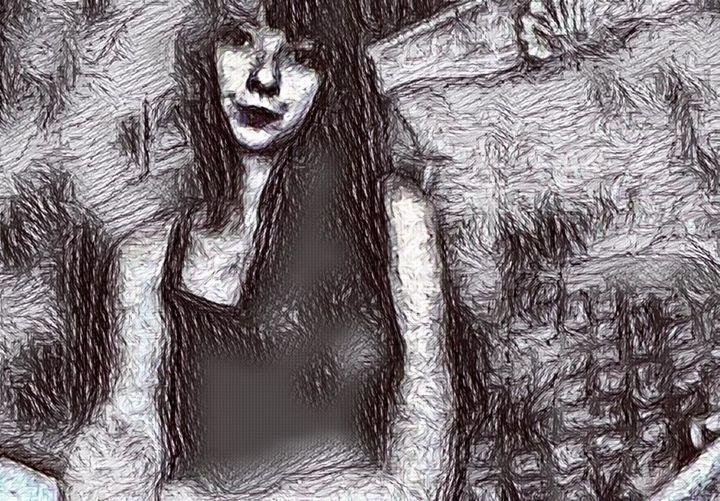 Girl Sketch - Hannah De Morlaix