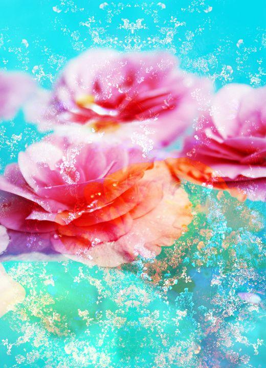Flowers In Water 73 - Flowers by Alaya Gadeh