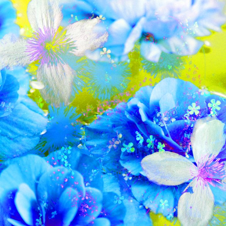 Blue Blossom Dance - Flowers by Alaya Gadeh