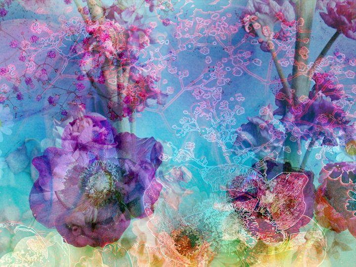 Rainbow Flowers 53 - Flowers by Alaya Gadeh