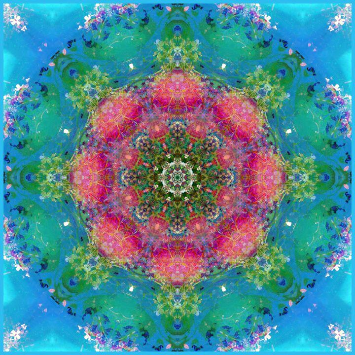 Blue Water Circle - Flowers by Alaya Gadeh