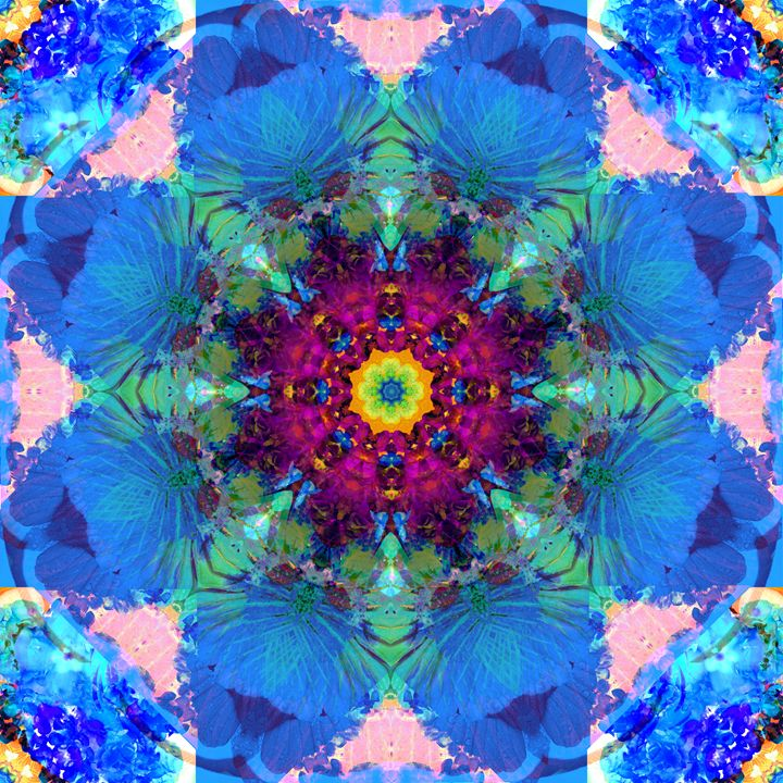 Blue Blossom - Flowers by Alaya Gadeh