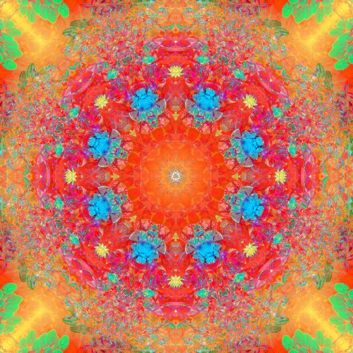 symmetrisches ornament von blumenfot - Flowers by Alaya Gadeh
