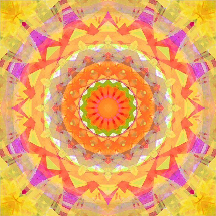 Geometric Orange - Flowers by Alaya Gadeh