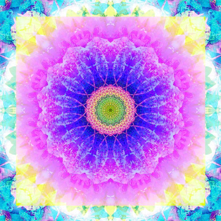 Crown Chakra Mandala - Flowers by Alaya Gadeh