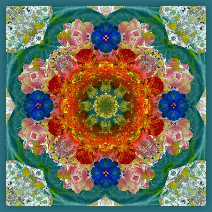 Velvet Green Blossom - Flowers by Alaya Gadeh