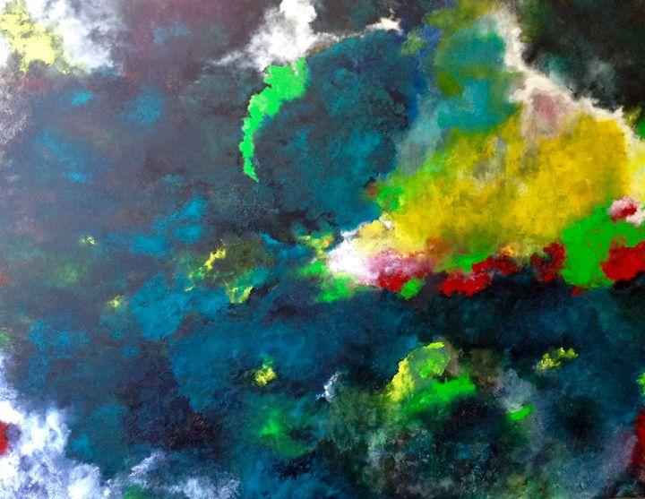 Irruption of Colour. - Magdalena Knight Art