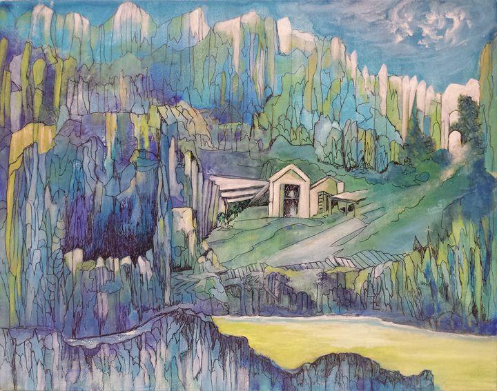 Turquoise Crystal Mountain - Laneita