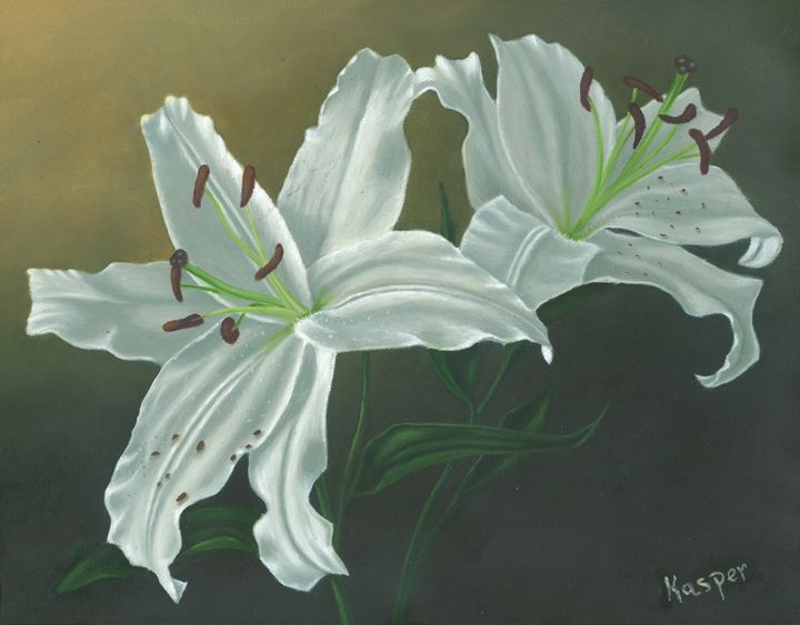 white lillies - Kasper Gallery