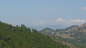 Almora with Himalayan view