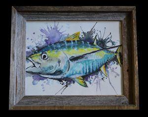Original Tuna Watercolor Framed