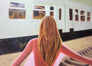Re-Created Girl at Station