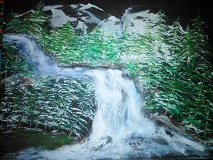 high country waterfall