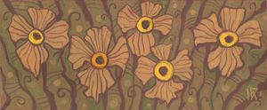 Yellow-eyed flowers