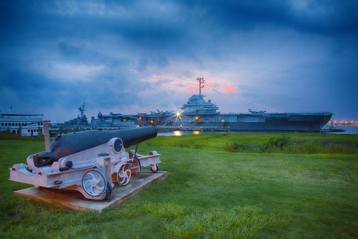 USS Yorktown at Sunset - Daniel S. Krieger Photography