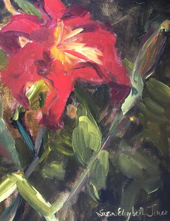 A Lily Among Zinnias - Colorful & Charming Art of Susan Elizabeth Jones