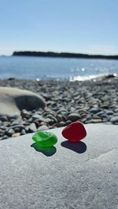 Red And Green Sea Glass