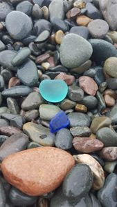 Baby Blue, Cobalt Blue Sea Glass