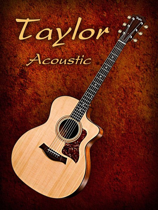 Wonderful Taylor Acoustic Guitar - music