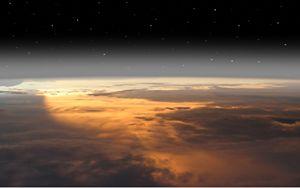 Earth below