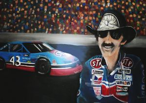 Richard Petty and STP 43 car
