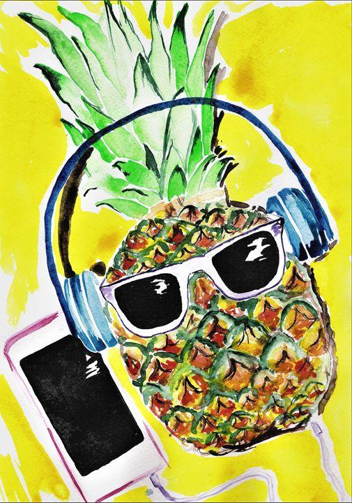 Cool Pineapple - TattyArty