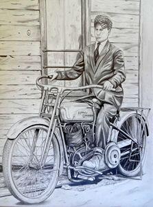 My Pa's Harley - Native Texan Artistry/Charles Rogers