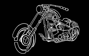 Abstract Motor Cycle 3D