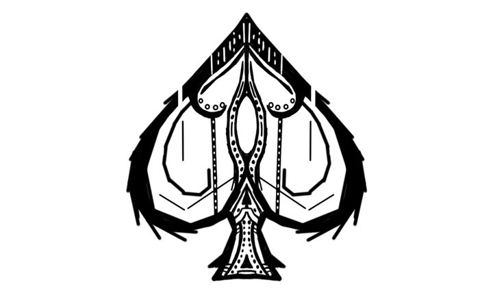 Spade Symmetry Practice - Wifffles Arts and Stuff